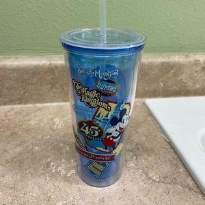 45th anniversary plastic cup and straw